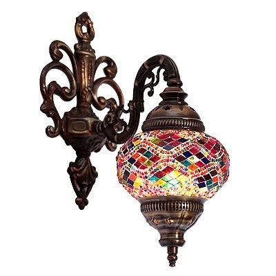 Arandela Turca Mosaico Color 35cm