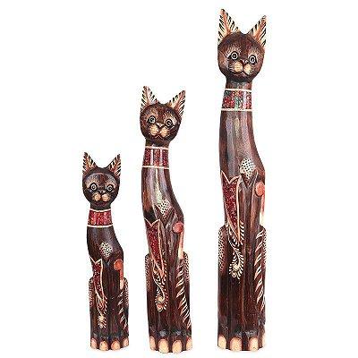 Trio de Gatos Mosaico 100/80/60cm