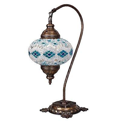 Luminária Turca Mosaico Blue Antik