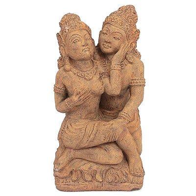 Escultura Rama e Sita P/ Jardim 60cm