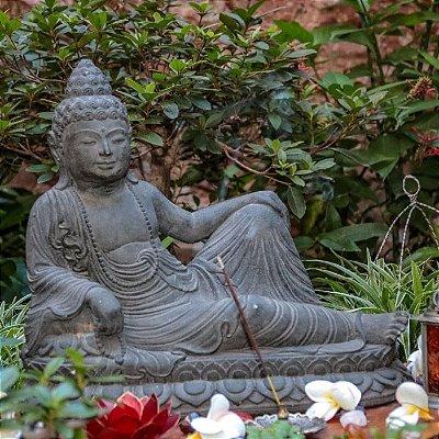 Buda Deitado Jardim 40cm - Bali