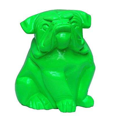 Cachorro Bulldog Sentado em Resina