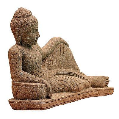 Buda em Pedra Deitado Jardim 120cm - Bali