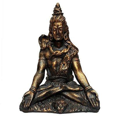 Escultura Shiva Meditando em Resina