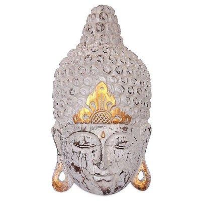 Escultura Cabeça de Buda Branca - Bali