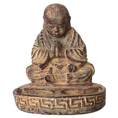 Monge Budista em Pedra p/ Velas