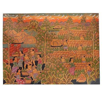 Tela Trabalhadores da Indonésia 80x60cm