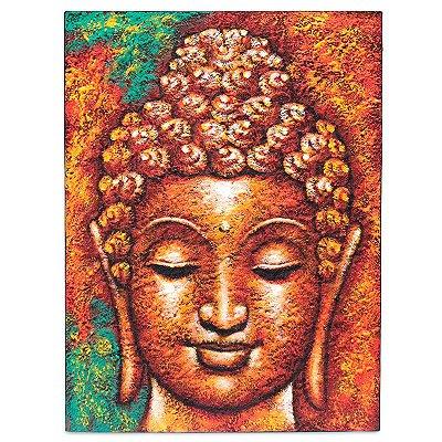 Tela Cabeça de Buda c/ Textura 80x60cm