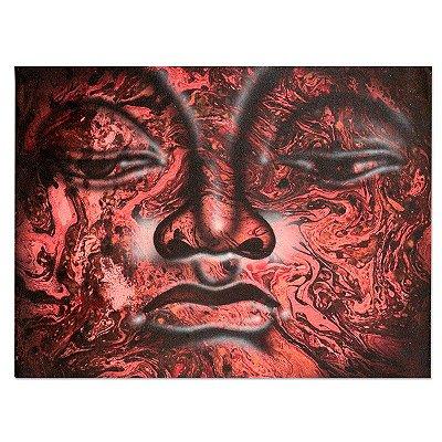Tela decorativa Buda Vermelho 40x30cm