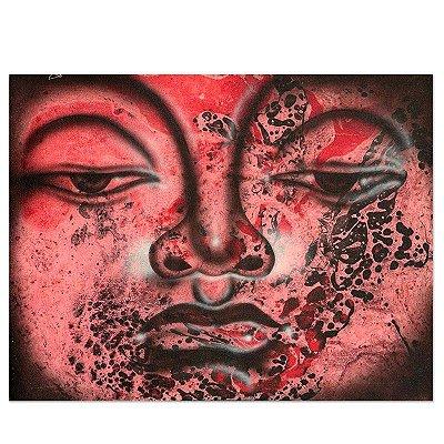 Pintura em Tela Olhar de Buda 40x30cm