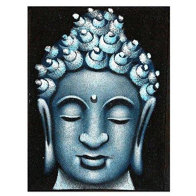 Pintura em Tela Face de Buda 40x30cm