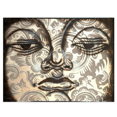 Tela Buda Silver 40x30cm | Bali