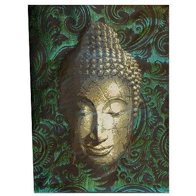 Tela Facial Buda Verde 40X30cm - Bali
