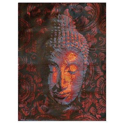 Tela Facial Buda Vermelho 40x30 - Bali