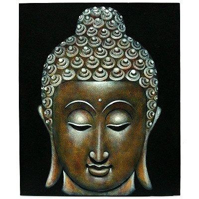 Pintura em Tela ''Cabeça de Buddha'' 120x100cm