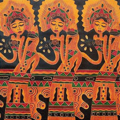 Tela Indonesianas Dançando 80x60cm