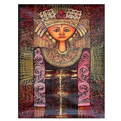 Tela Balinesa Tradicional 80x60cm