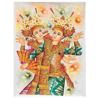 Pintura em Tela Dança Balinesa 80x60cm