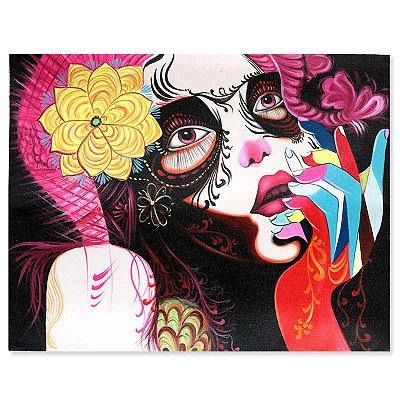 Tela Mulher Floral Colorida 90x70cm - Bali