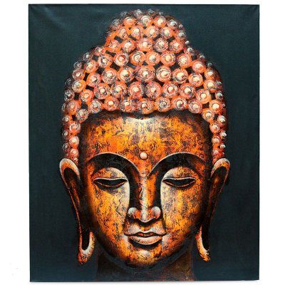 Pintura em Tela Buda Laranja Escuro 120x100cm