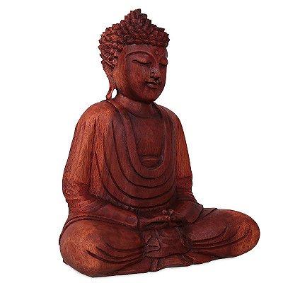 Estátua Buda Meditando 30cm - Bali