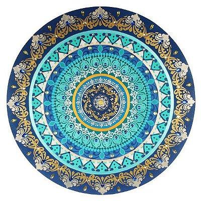 Mandala Flor de Lótus Azul 60cm