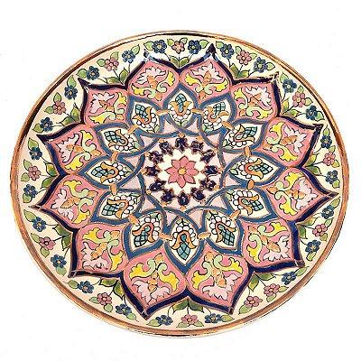 Prato Colorido Floral em Porcelana