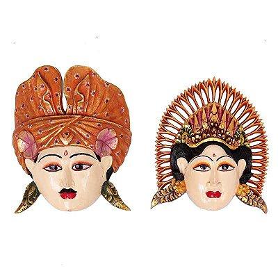 Máscara em Madeira Rama e Sita - Bali