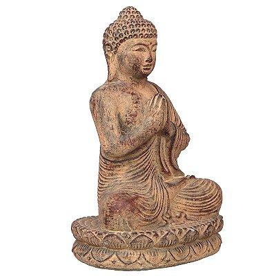 Escultura Buda em Cimento 30cm