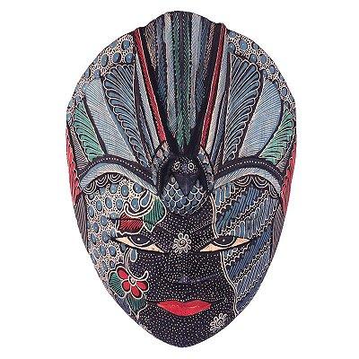 Máscara Batik Azul 28cm - Bali