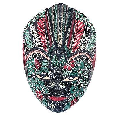 Máscara Batik Verde 28cm - Bali