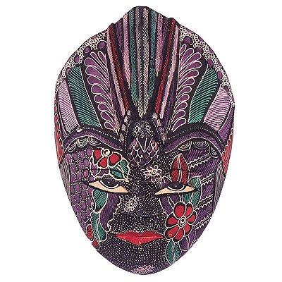Máscara Batik Roxa 28cm - Bali