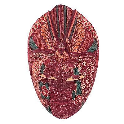 Máscara Batik Vinho 28cm - Bali