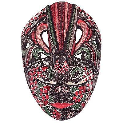 Máscara Decorativa Batik Pássaro Color - Bali