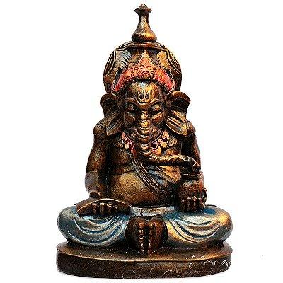 Escultura Deus Ganesha em Resina 20cm