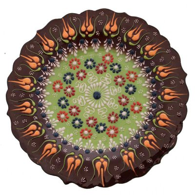 Prato Turco em Cerâmica 18cm