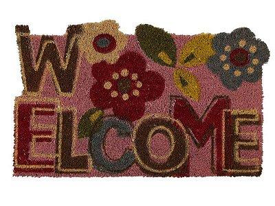 Capacho Welcome 45x75cm - Fibra Natural