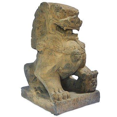Escultura Cão de Fu em Pedra  60cm | Bali