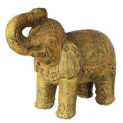 Escultura Elefante em Cimento 50cm | Bali