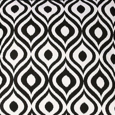 Capa de Almofada Geométrica P&B | Curvas