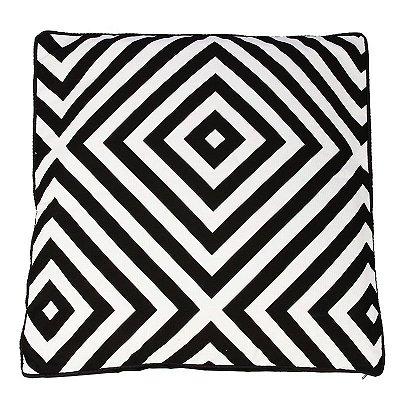 Capa de Almofada Geométrica P&B | Quadrados
