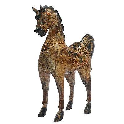 Cavalo em Madeira 40cm - Bali