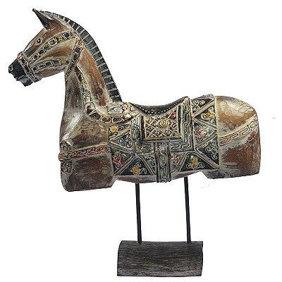 Cavalo Decorativo em Madeira 60cm - Bali