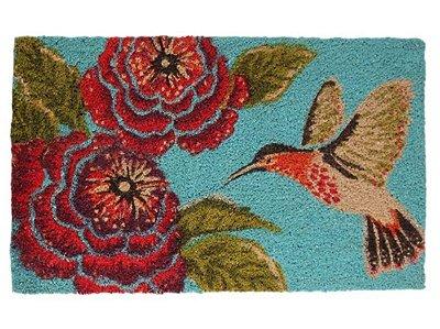 Capacho Beija-Flor Azul 45x75cm - Fibra