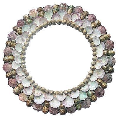 Espelho de Conchas 53cm - Bali