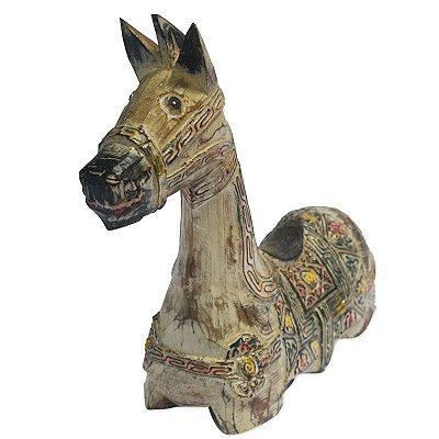 Cavalo em Madeira 30cm - Bali