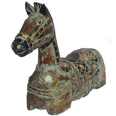 Cavalo Decorativo em Madeira 30cm | Bali