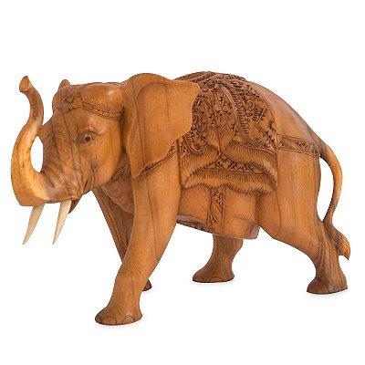 Elefante em Madeira 50cm - Bali