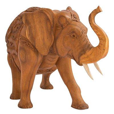Elefante em Madeira 30cm - Bali