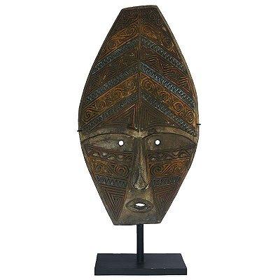 Máscara Javanesa em Madeira 89cm - Antiguidade